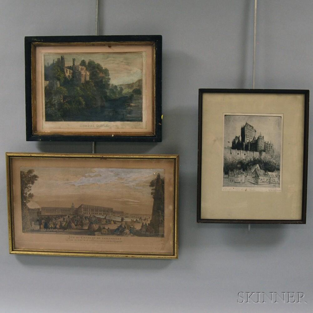 Lot of Three Prints J H Millspaugh American 19th