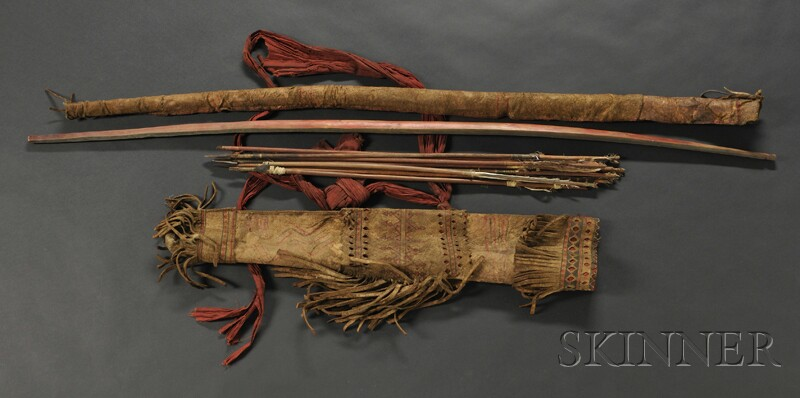 Southern Plains Horse Hide Bow Case And Quiver Bidsquare
