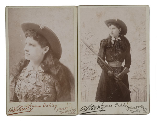 Annie Oakley And Buffalo Bill Cabinet Cards By Brisbois Bidsquare