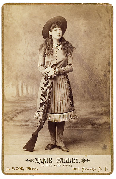 Scarce Autographed Photograph Of Annie Oakley At Her Last Exhibition Bidsquare