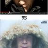 Man in Parka Imitates Putin