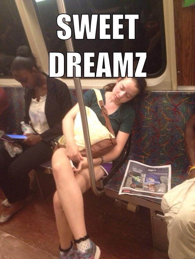 Me napping on the T (don't do this)