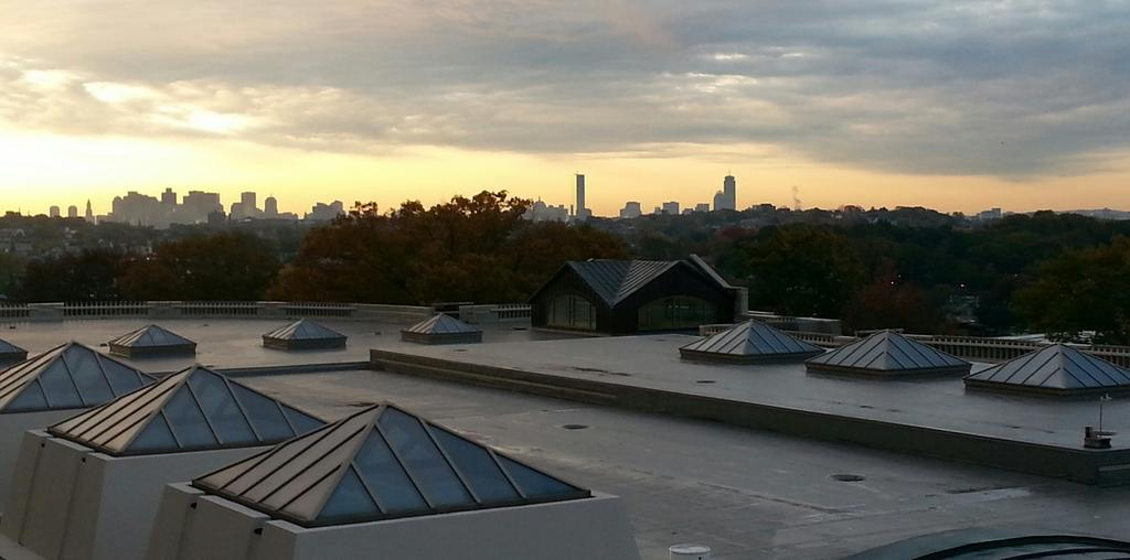 Sunrise over the Tisch Library Roof. Credit: David Rosowsky, UVM.