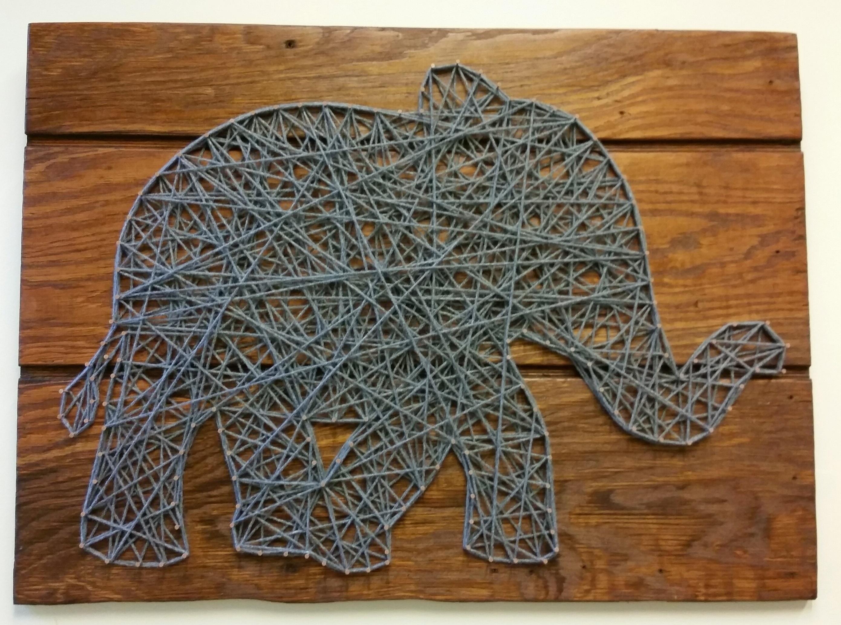 String art elephant