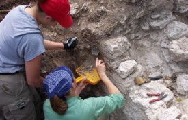 Image: Lecturer Lauren Sullivan offers an annual Archaeology Field School in Belize.