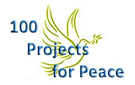 "Image: 100 Projects for Peace is a program that asks students at many universities to put together ""grassroot projects"" that promote peace."