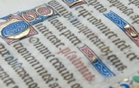 Image: Librarians in Tisch Library discover a 15th century Latin manuscript, and undergraduates are the ones to translate it and discover its origins.