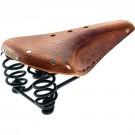 Brooks Flyer Pre-aged Tan Laced Black Steel Rail Saddle