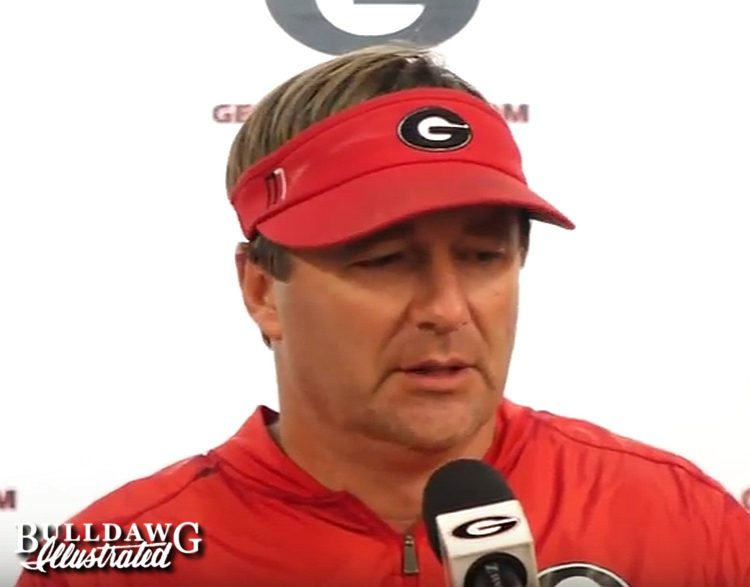 Kirby Smart during post-practice press conference on Tuesday, August 29, 2017