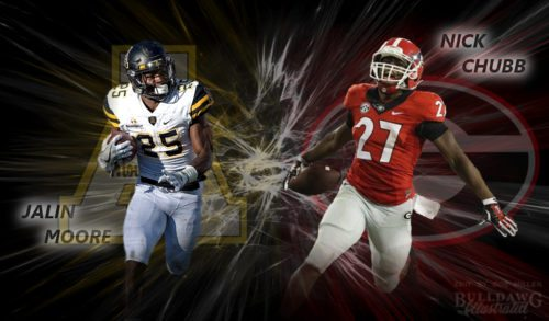 Jalin Moore, Appalachian State vs Nick Chubb, UGAG  2017 edit by Bob Miller
