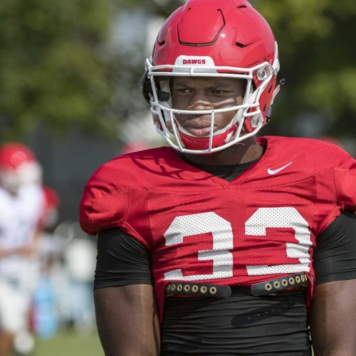 Freshman Robert Beal, Jr. (33) - UGA football practice - Tuesday, Sept. 5, 2017