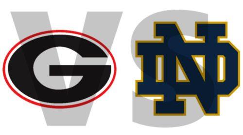 Georgia G vs Notre Dame ND 2017 edit by Bob Miller