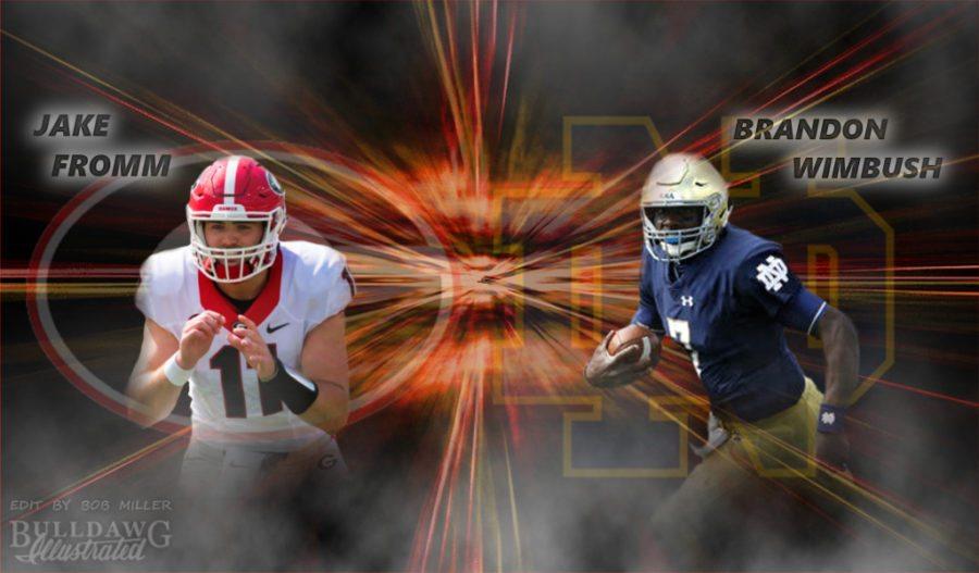 Jake Fromm, Georgia vs Brandon Wimbush, Notre Dame 2017 Game Day edit by Bob Miller