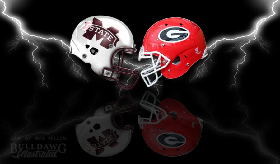 UGA vs. Mississippi State 2017 helmet edit by Bob Miller