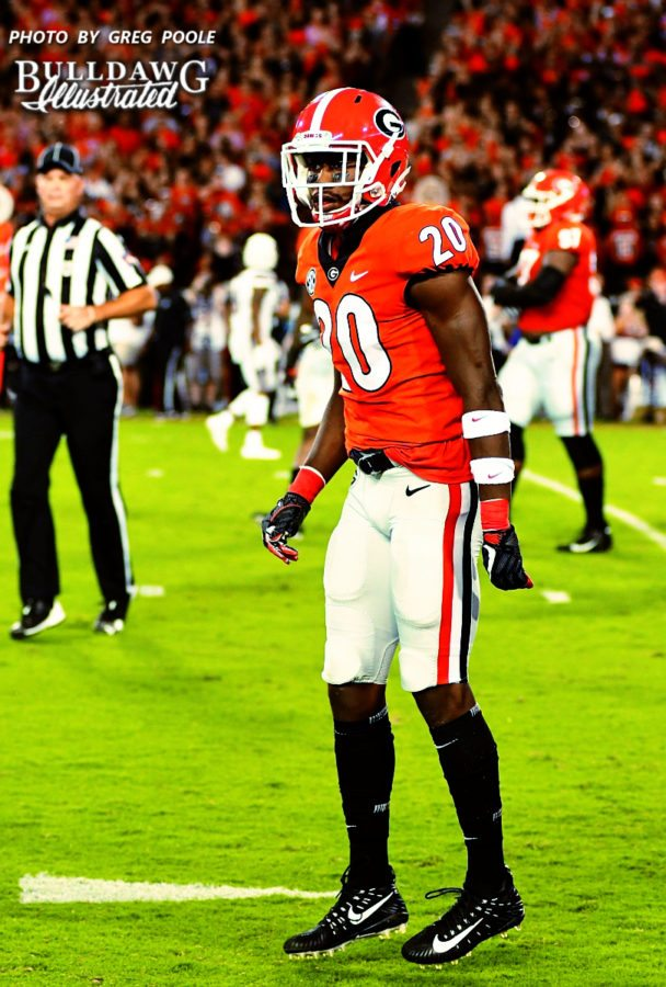 J.R. Reed (20) - UGA vs. Mississippi State -  Saturday, Sept. 23, 2017