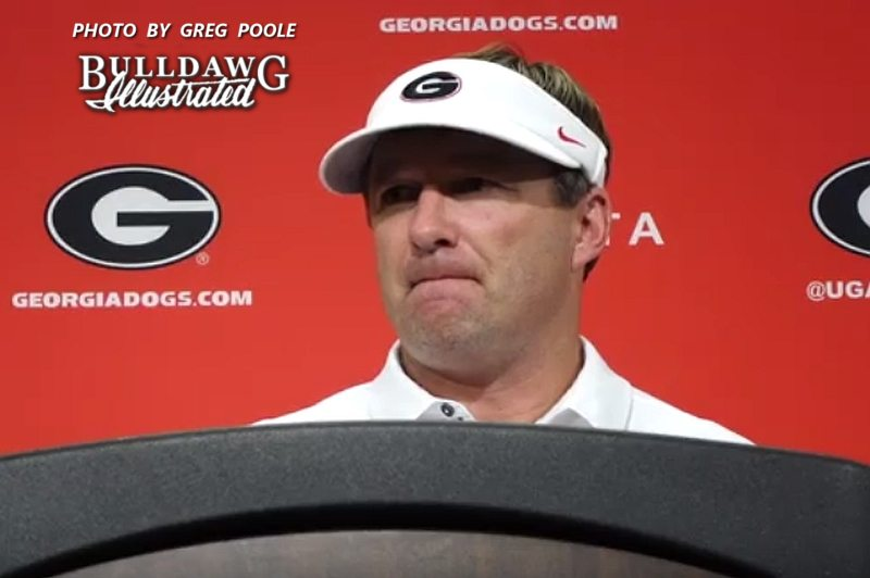 Kirby Smart during his post-Mississippi State game press conference