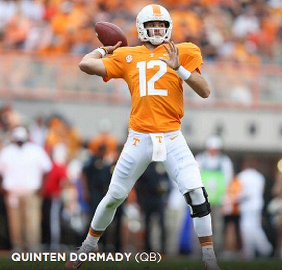 Tennessee QB, Quiten Dormady
