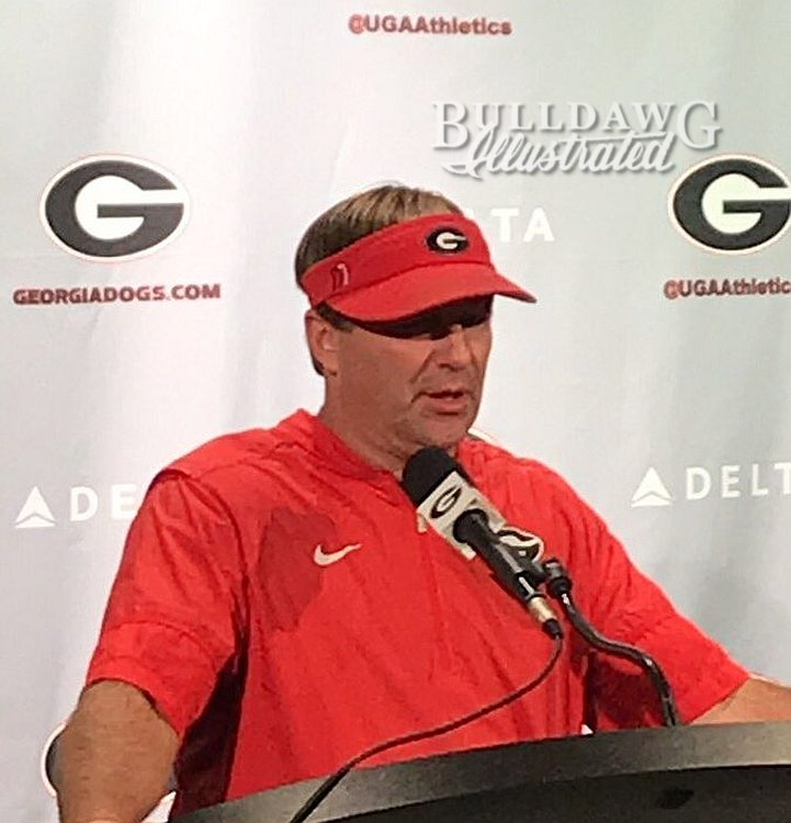Kirby Smart during his Tuesday post-practice press conference
