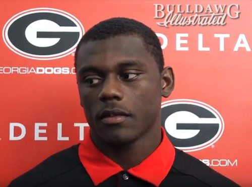 Deandre Baker during his post-practice interview on Tuesday
