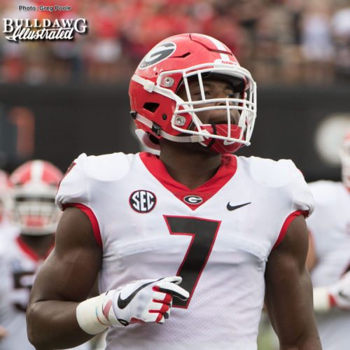 Lorenzo Carter - UGA vs. Vanderbilt - Saturday, October 7, 2017