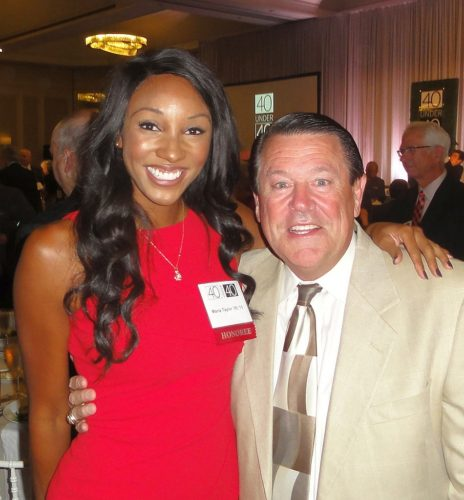 Maria Taylor and Andy Landers
