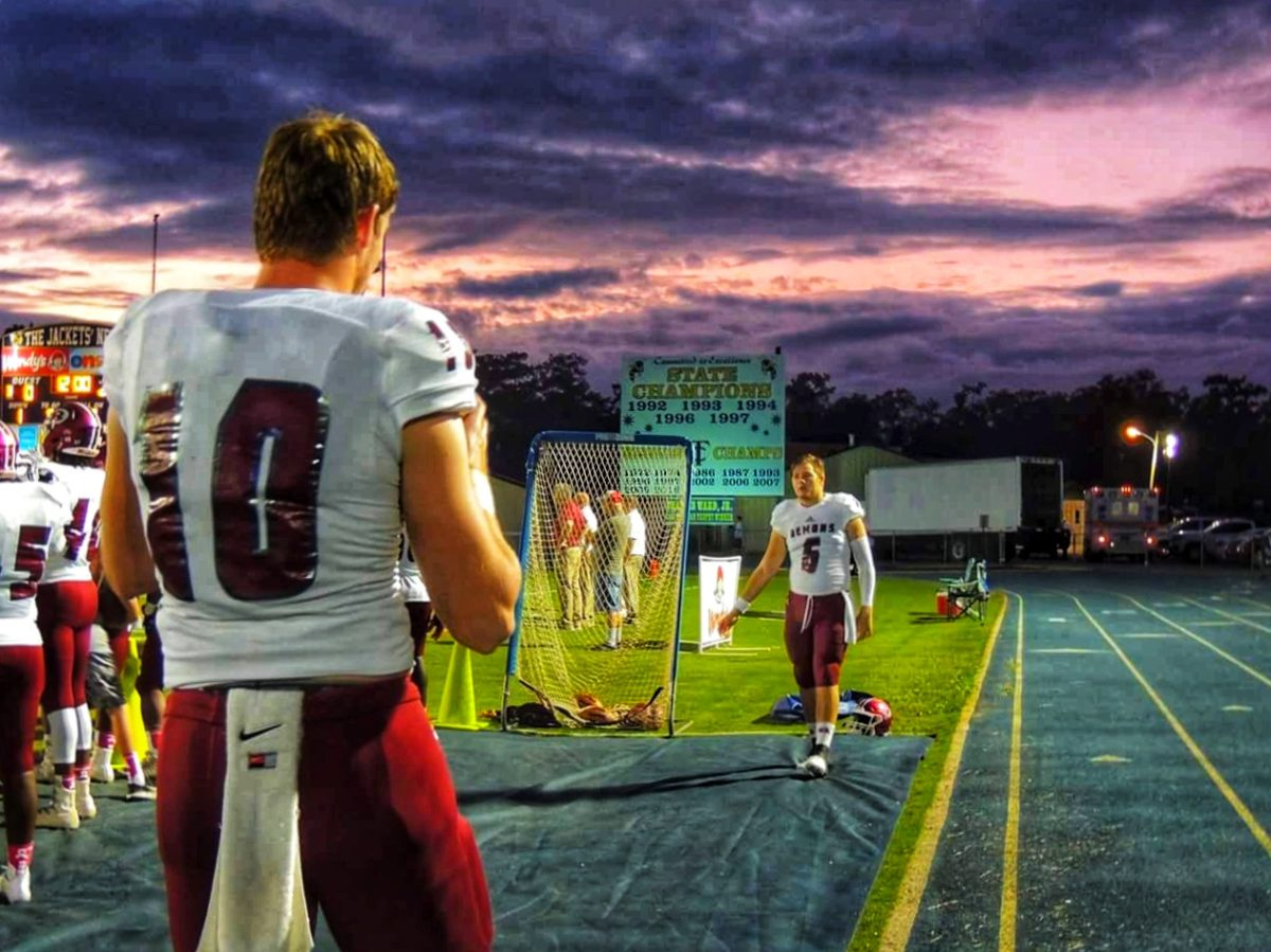 Dylan and Tyler Fromm Play Catch with Beautiful Sky as Backdrop