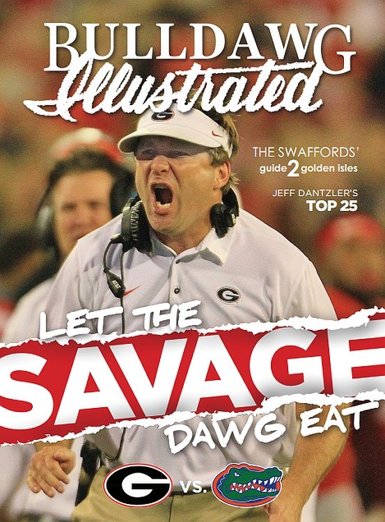 Bulldawg Illustrated cover - 2017 Vol 15 Issue 10 Let the Savage Dawg Eat