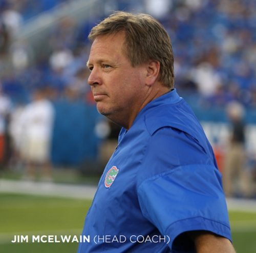 Florida Head Coach Jim McElwain (Photo by Tim Casey)