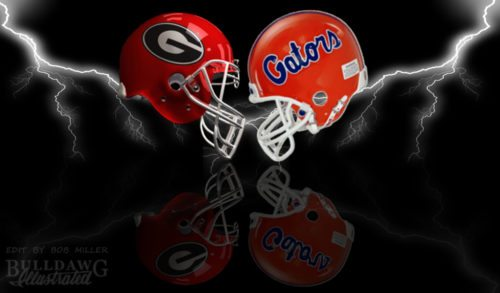 Georgia-Florida 2017 helmet edit by Bob Miller