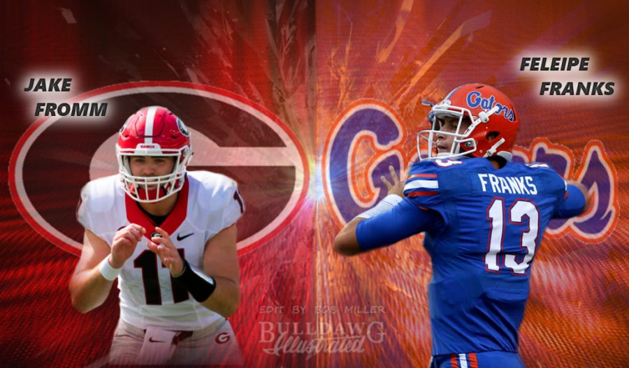 Georgia Jake Fromm vs Gators Feleipe Franks 2017 edit by Bob Miller