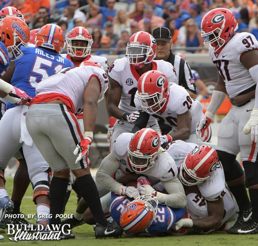 The Bulldog D was stout versus the Gators' offense on Saturday in Georgia's 42-7 win over Florida in Jacksonville