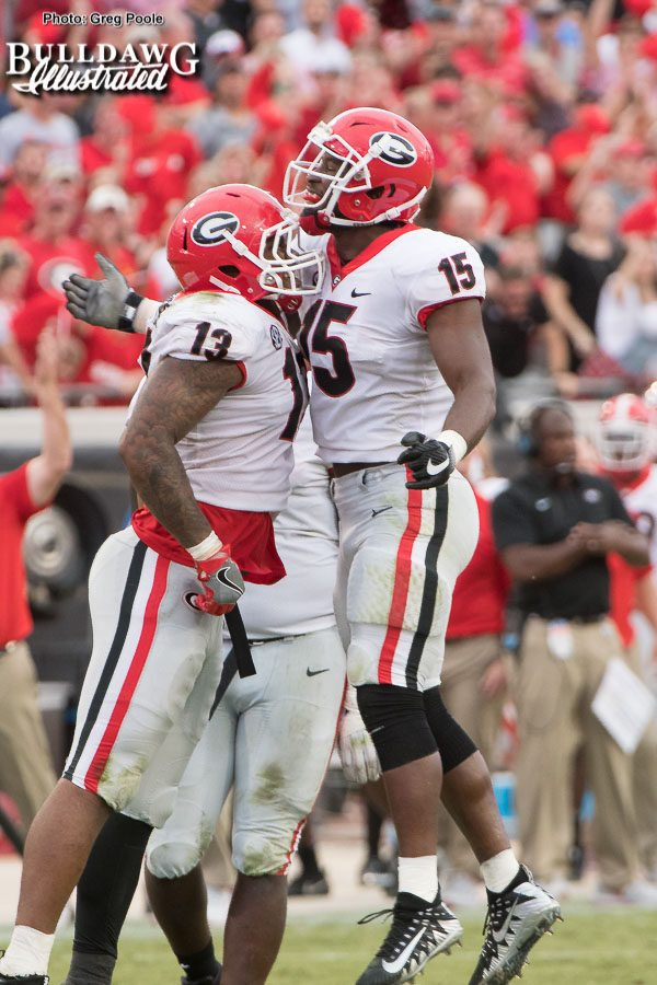 Jonathan Ledbetter(13) and D'Andre Walker(15)