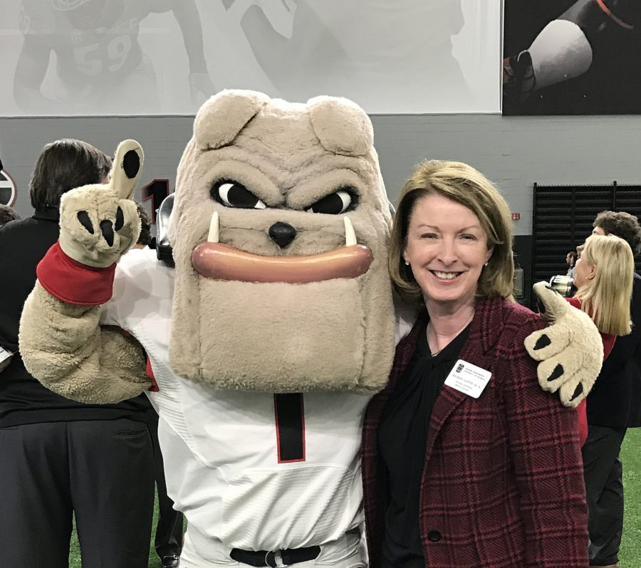 UGAs Hairy Dawg and Maureen Clayton