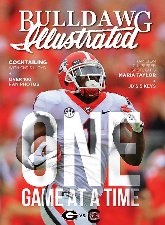 Bulldawg Illustrated cover for 2017, Vol 15, Issue 11, One Game at a Time (revised)