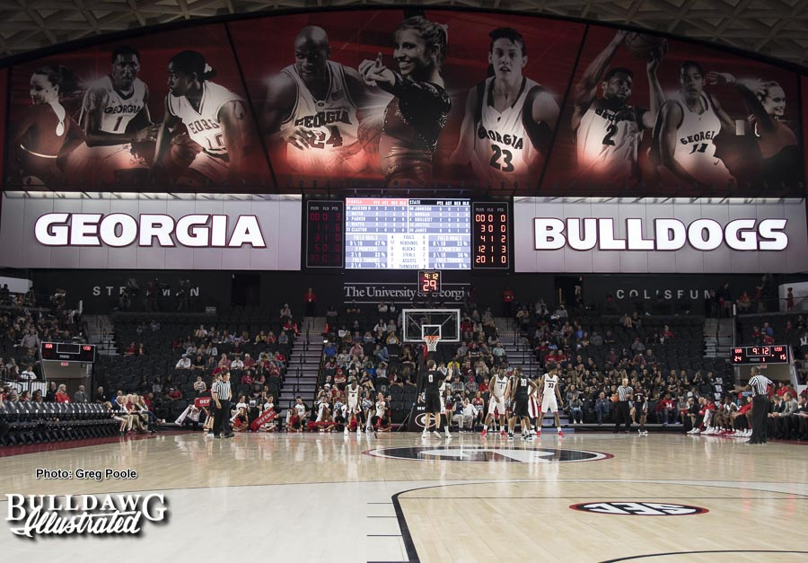 The Georgia men's basketball team takes on Valdosta State in an exhibition game in UGA's newly renovated Stegeman Coliseum. - Thursday, Nov. 2, 2017 -