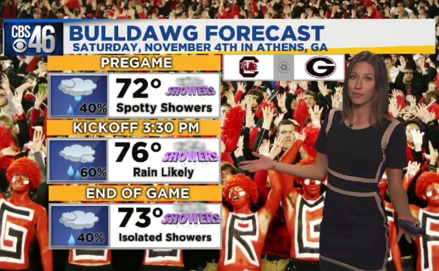 Ella's Bulldawg Forecast for Georgia-South Carolina