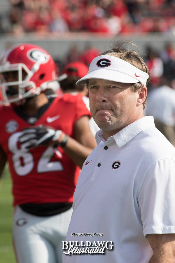 Kirby Smart - Georgia 24 -South Carolina game 10 - Saturday, Nov. 4, 2017