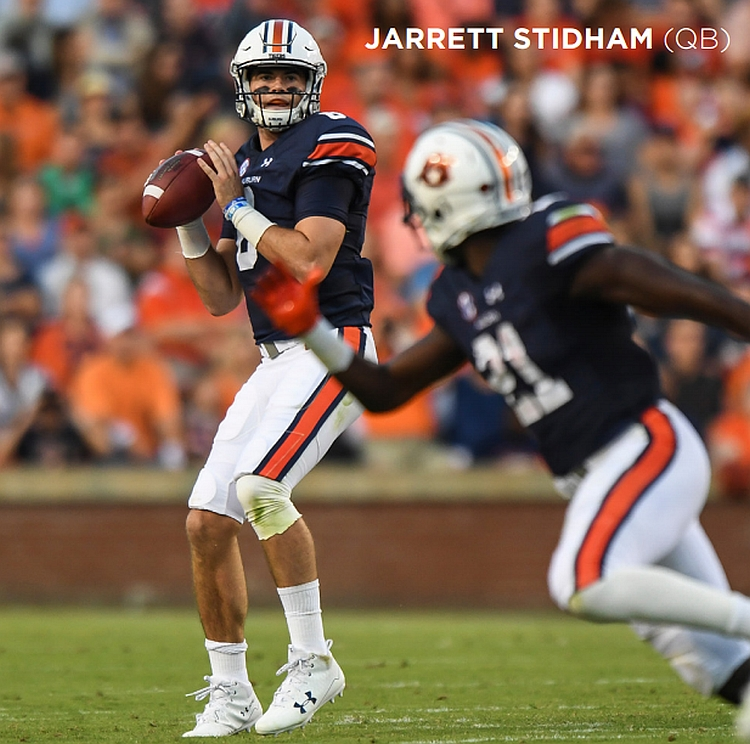 Jarrett Stidham, Auburn QB (Photo from Auburn Athletics)