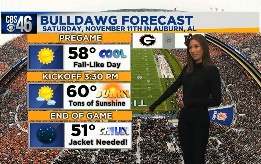 Ella's Bulldawg Forecast for Georgia-Auburn