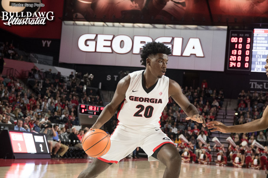 Rayshaun Hammonds (20) - Georga men's basketball team -