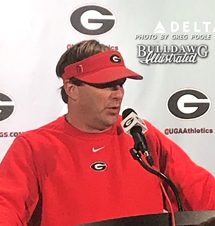 Kirby Smart during his Tuesday post-practice press conference 2017-11-14