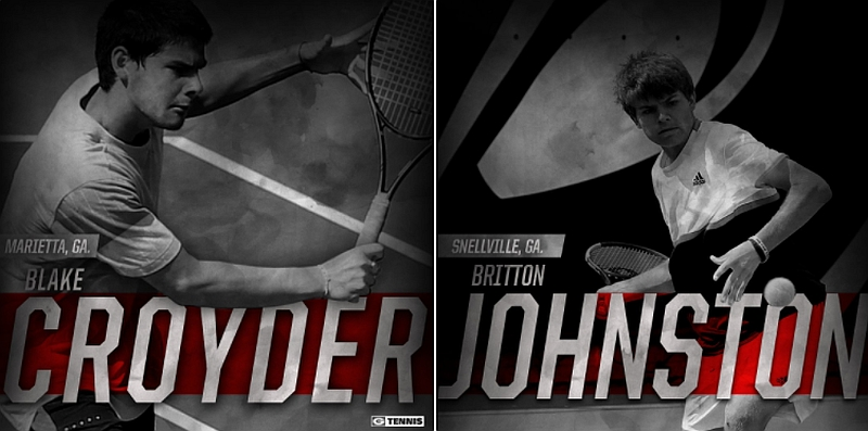 Blake Croyder and Britton Johnston  (Photo from Georgia Tennis / Twitter)