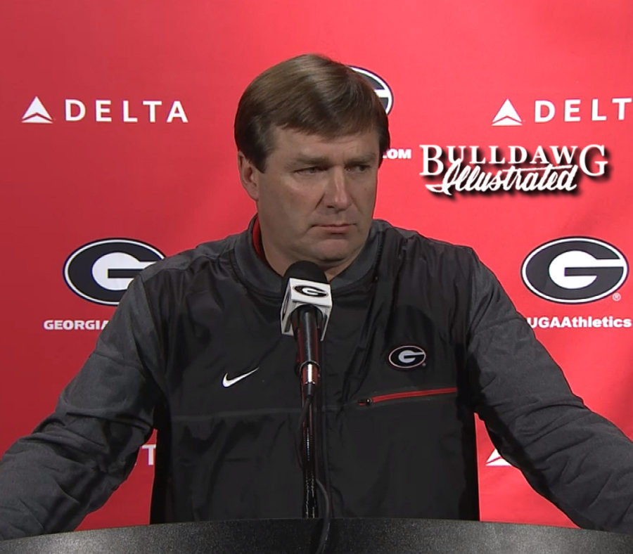 Kirby Smart during his Monday press conference, 2017-11-20