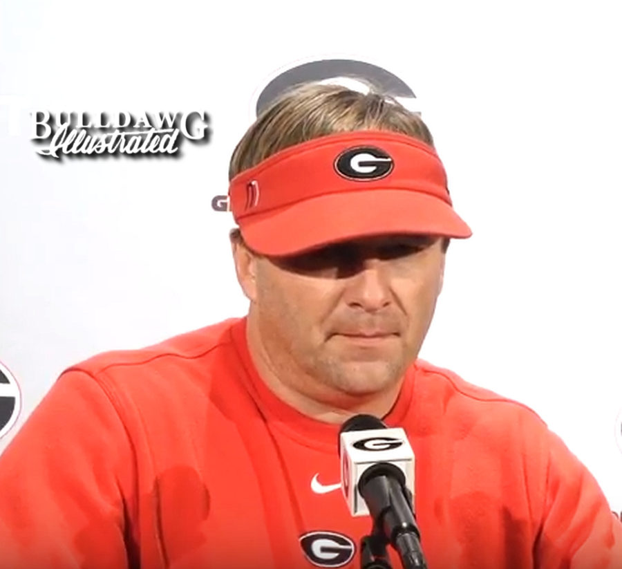 Kirby Smart during Tuesday's post-practice press conference