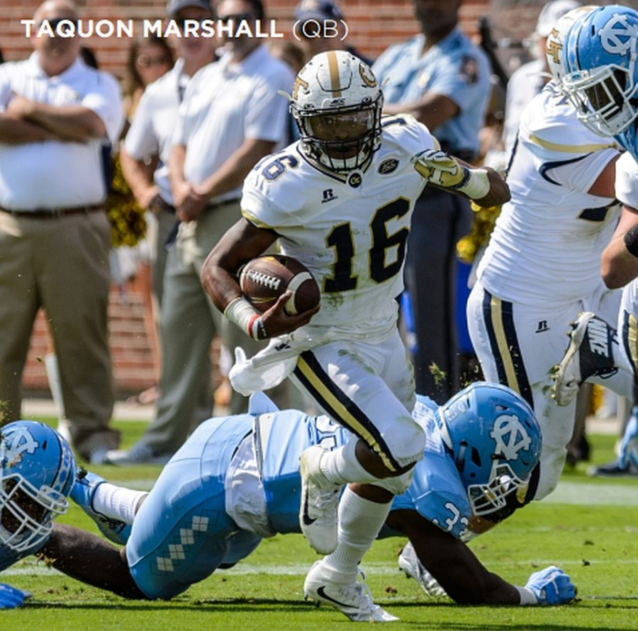 Taquon Marshall, GT starting QB (Photos from Georgia Tech Athletics / Austin Foote)