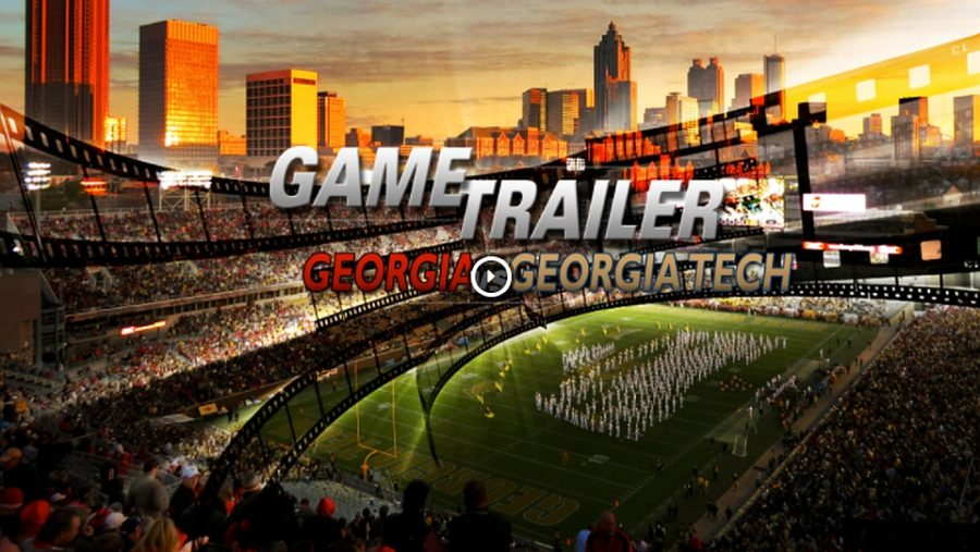 Georgia vs. Georgia Tech game trailer (Photo from Georgia Sports Communications)