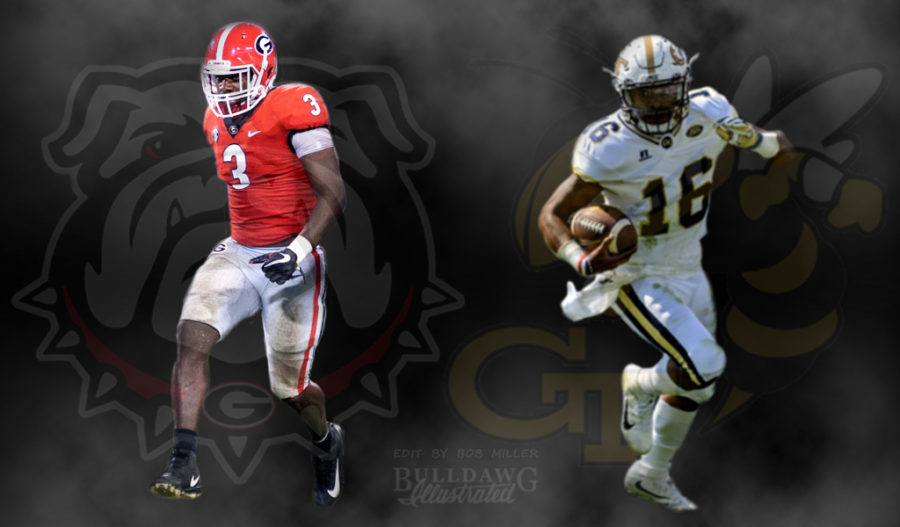 Georgia vs. Georgia Tech, Roquan Smith, Taquon Marshall 2017 game day live edit by Bob Miller