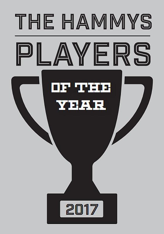 The 2017 Hammys players of the year graphic