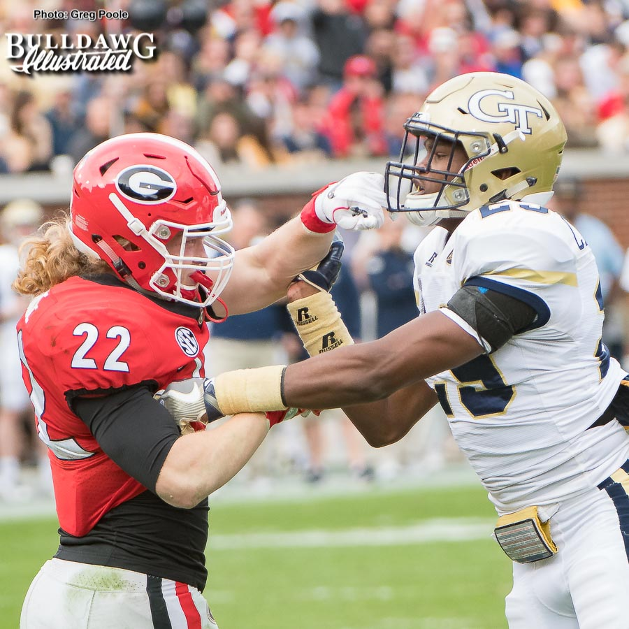 Nate McBride vs. Tariq Carpenter - Georgia vs. Georgia Tech 2017
