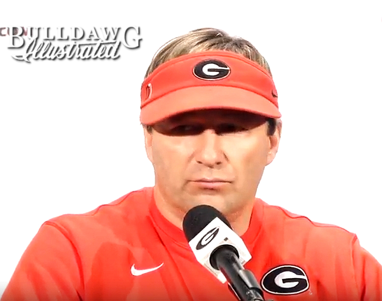Kirby Smart during his post-practice press conference on Tuesday, Nov. 28, 2017